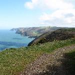 coastal path woody bay/hunters inn