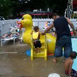 duck slide in kiddie pool