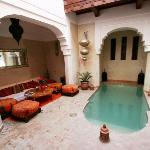 Riad Zolah Pool and Chill Out area