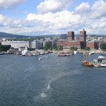 View of Oslo from ship