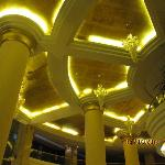 View of the lobby ceiling at night