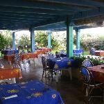 Terrasse pour PDJ et dîner
