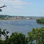View of Dubuque from Julien Dubuque Monument area.