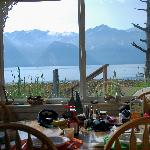 View from the table in the Cottage on the Bay, Lowell Point, Seward