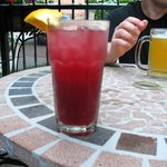 Drinks on the patio at Cafe Al Dente