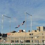 NYC trapeze school - on the route