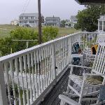 Porch facing the ocean
