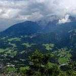 view from Grunstein mountain - behind hotel