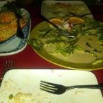 The food was so good I couldnt wait to take a picture