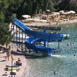 View down to the waterslide