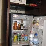 Safe deposit box and minibar