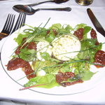 Yummy fresh and creamy mozarella salad for my starter delicious