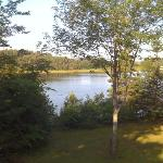 On the deck looking over the Hope River