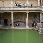 Roman baths at...Bath. Of course!