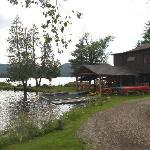 Main Lodge and boathouse