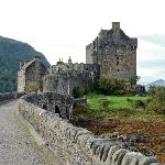 Looking over the bridge at Eilean Donan