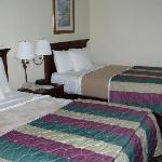 Doppel-Betten gemacht (vor der Nutzung)