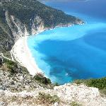 Myrtos beach, seen from the road above