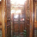 Beautiful doors to the spa