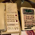 The bedside telephone and electronic controls