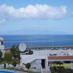 Balcony view to La Gomera