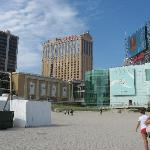 Vue des hôtels d'Atlantic City
