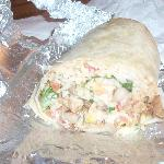 Chicken Burrito - $6.50 - enough to share too!