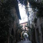 Side street near the hotel