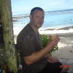 the coconut is beautiful. ... yum yum