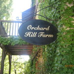Our balcony and the Orchard Hill sign