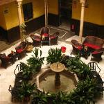 The Moorish patio in the hotel, rest / breakfast area