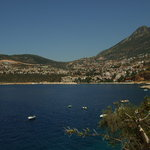 View from swimming pool towards Kalkan