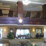 Hotel lobby, nice.