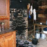 Kitchen area of Davis House Mountain Farm Museum