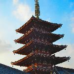 Traditional pagoda located right beside hotel