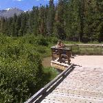 The little sitting area at Beaver Meadows