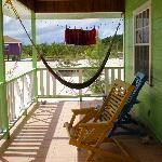 Front porch of our cabana