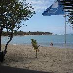 View from al inclusive beach restaurant