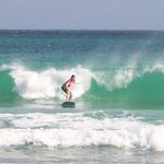 Me surfing at South Point, Barbados