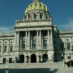 State Capitol in nearby Harrisburg