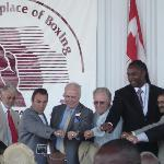 IBHOF PRESIDENT DON ACKERMAN WITH THE 2009 INDUCTEES