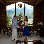 Our wedding at Alaska Wolf Lodge