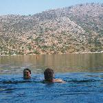 swimming in the sea at karia bel
