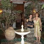 Uno de los patios del Riad