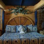 bed in Blue Moon suite