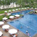 The 2 swimming pools at the resort