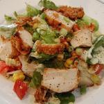 Fried chicken salad - heaven!