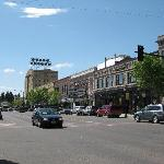 Far View of Ted's Montana Grill in downtown  Bozeman