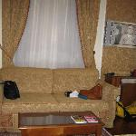 the sofa in the room