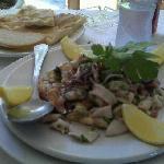 Seafood Salad and Focaccia, Cafe Santa Fe, Todos Santos BCS